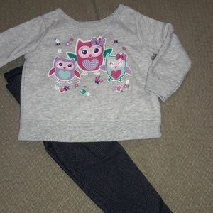 2pc girls sz 12/18mth outfit for spring